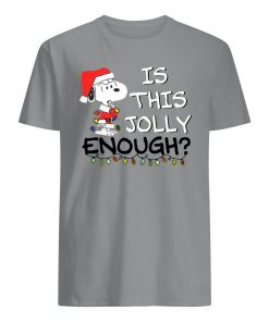 Snoopy is this jolly enough christmas mens shirt