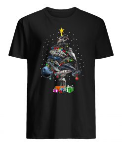 Star wars ships christmas tree mens shirt
