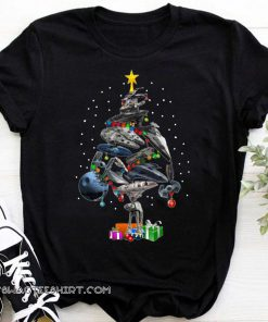 Star wars ships christmas tree shirt