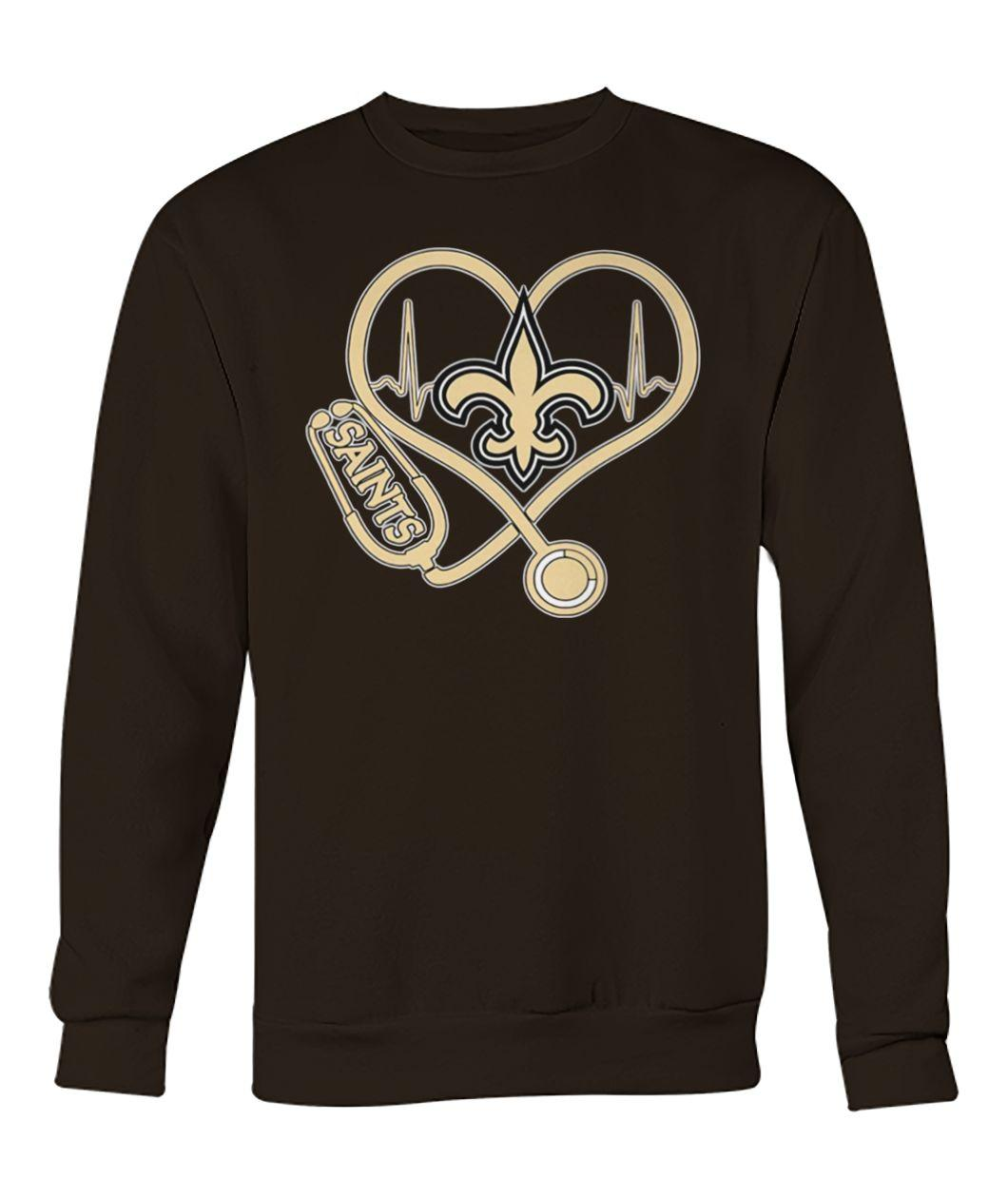 Stethoscope new orleans saints nfl sweatshirt