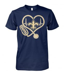 Stethoscope new orleans saints nfl unisex cotton tee