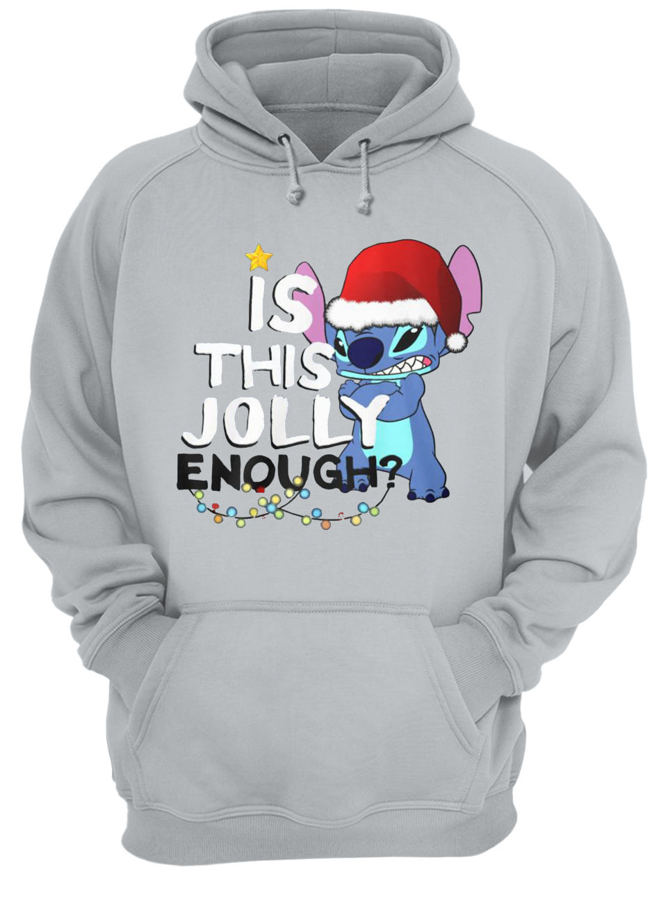 Stitch is this jolly enough christmas hoodie