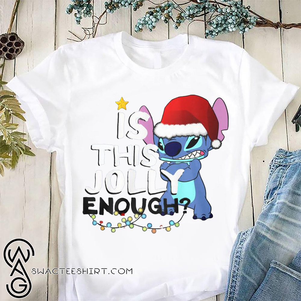 Stitch is this jolly enough christmas shirt