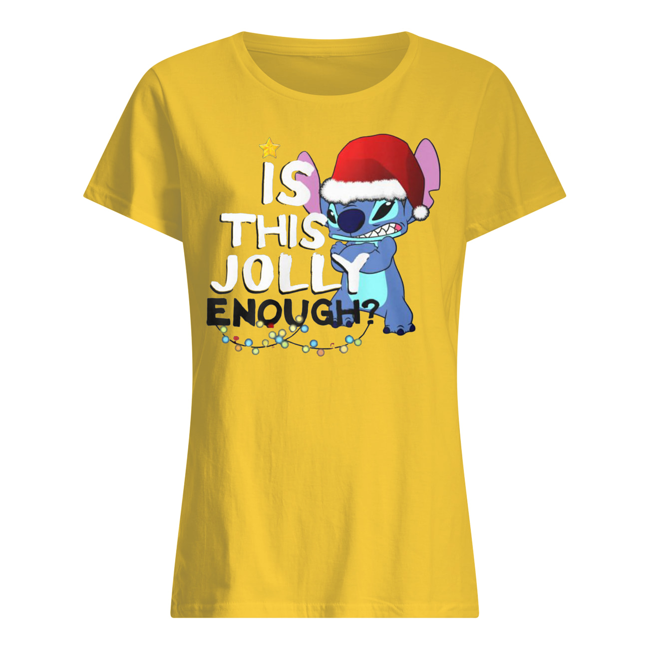 Stitch is this jolly enough christmas womens shirt