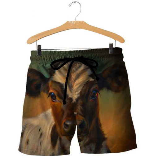 The beautiful cow all over print shorts