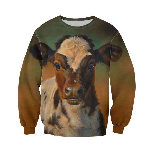 The beautiful cow all over print sweatshirt