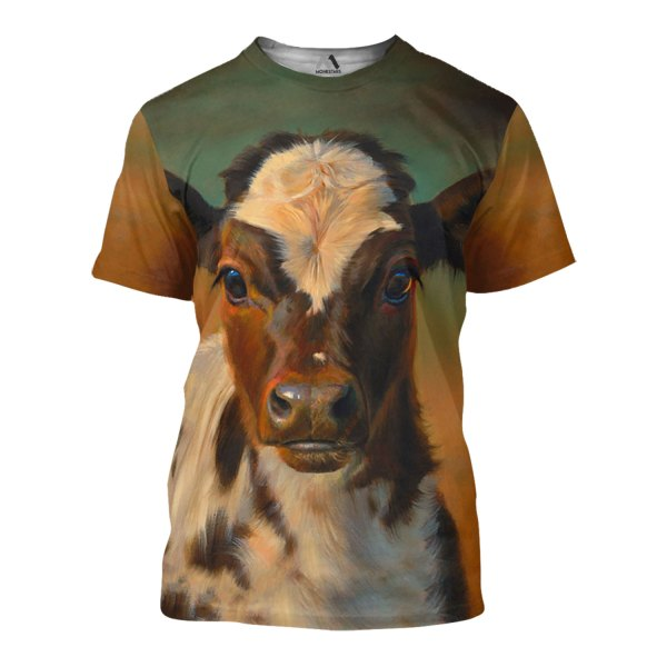The beautiful cow all over print tshirt