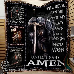The devil saw me with my head down knight templar blanket