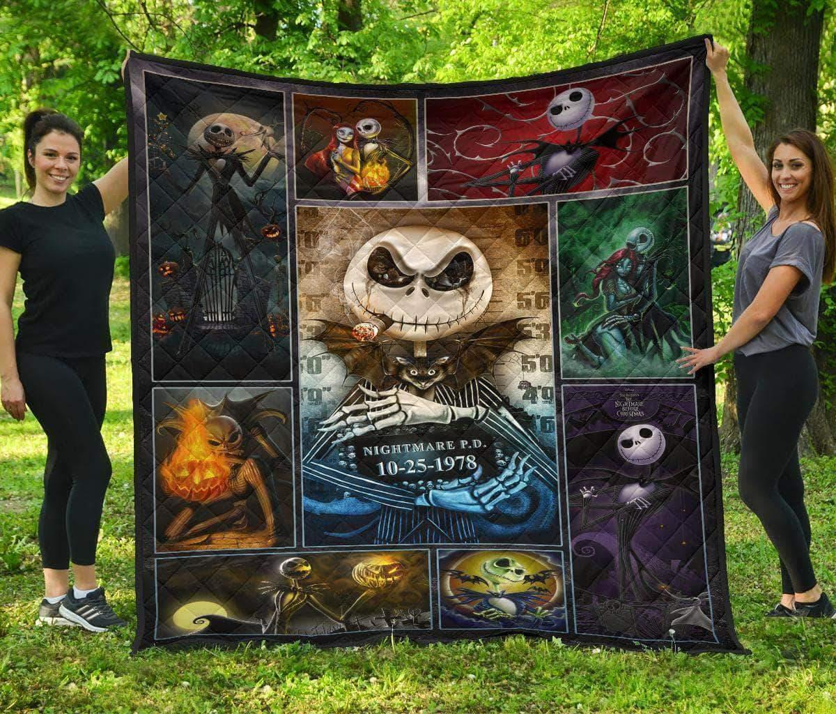 The nightmare before christmas jack skellington quilt - super king