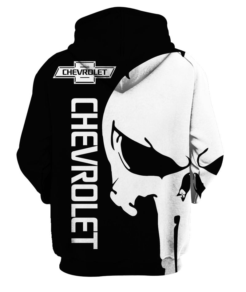The punisher chevrolet 3d hoodie - back