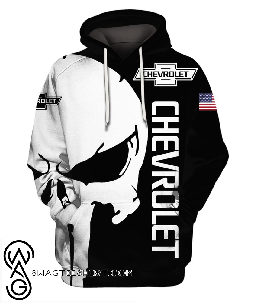 The punisher chevrolet 3d hoodie