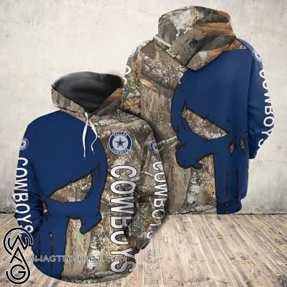 The punisher dallas cowboys all over print hoodie
