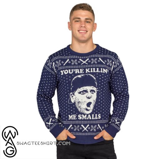 The sandlot you're killing me smalls navy ugly christmas sweater