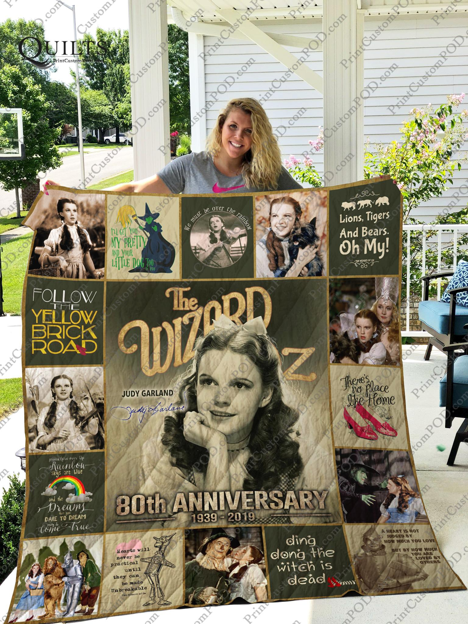 The wizard of oz judy garland 80th anniversary quilt - queen
