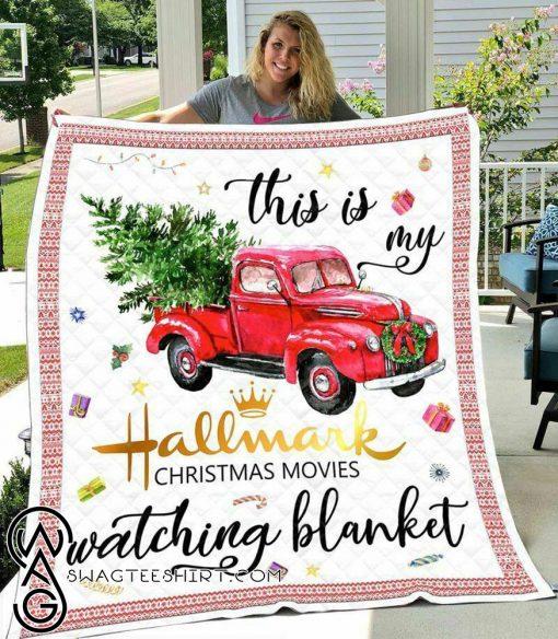 This is my hallmark christmas movie watching blanket