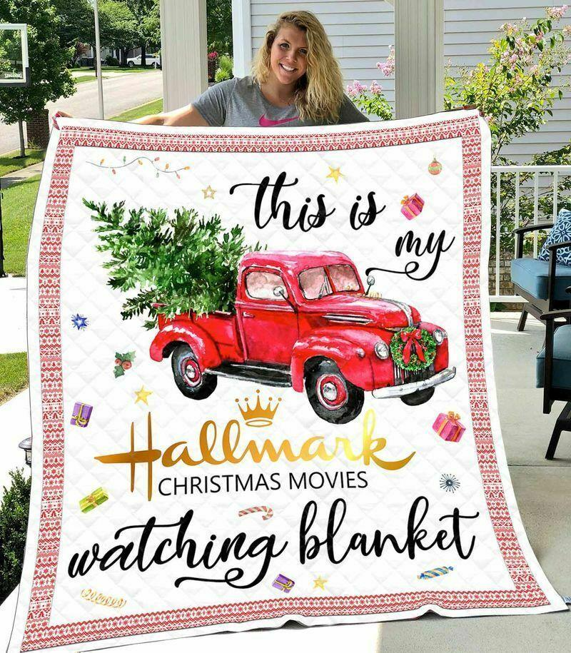 This is my hallmark christmas movie watching blanket - twin