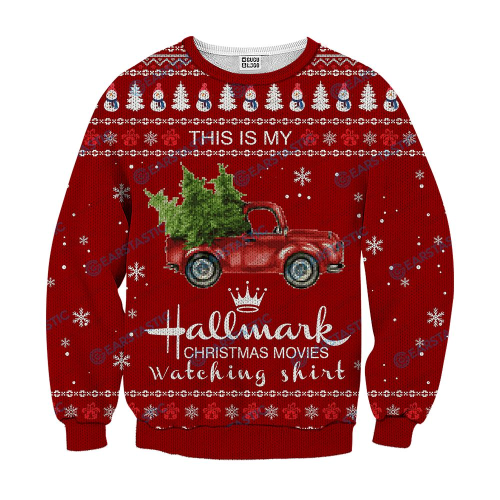 This is my hallmark christmas movie watching shirt ugly sweater - red