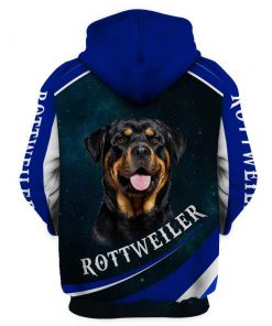 When it's to hard to look back rottweiler 3d full printing hoodie - back