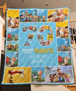 70 years of peanuts charles m schulz quilt 1