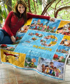 70 years of peanuts charles m schulz quilt 3