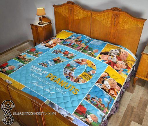 70 years of peanuts charles m schulz quilt