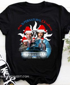 A very supernatural christmas signatures shirt