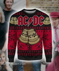 ACDC hells bells full printing ugly christmas sweater