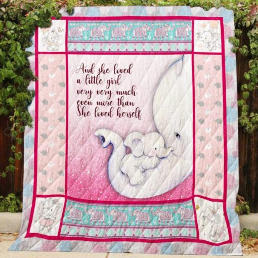 And she loved a little girl very very much elephant quilt 1