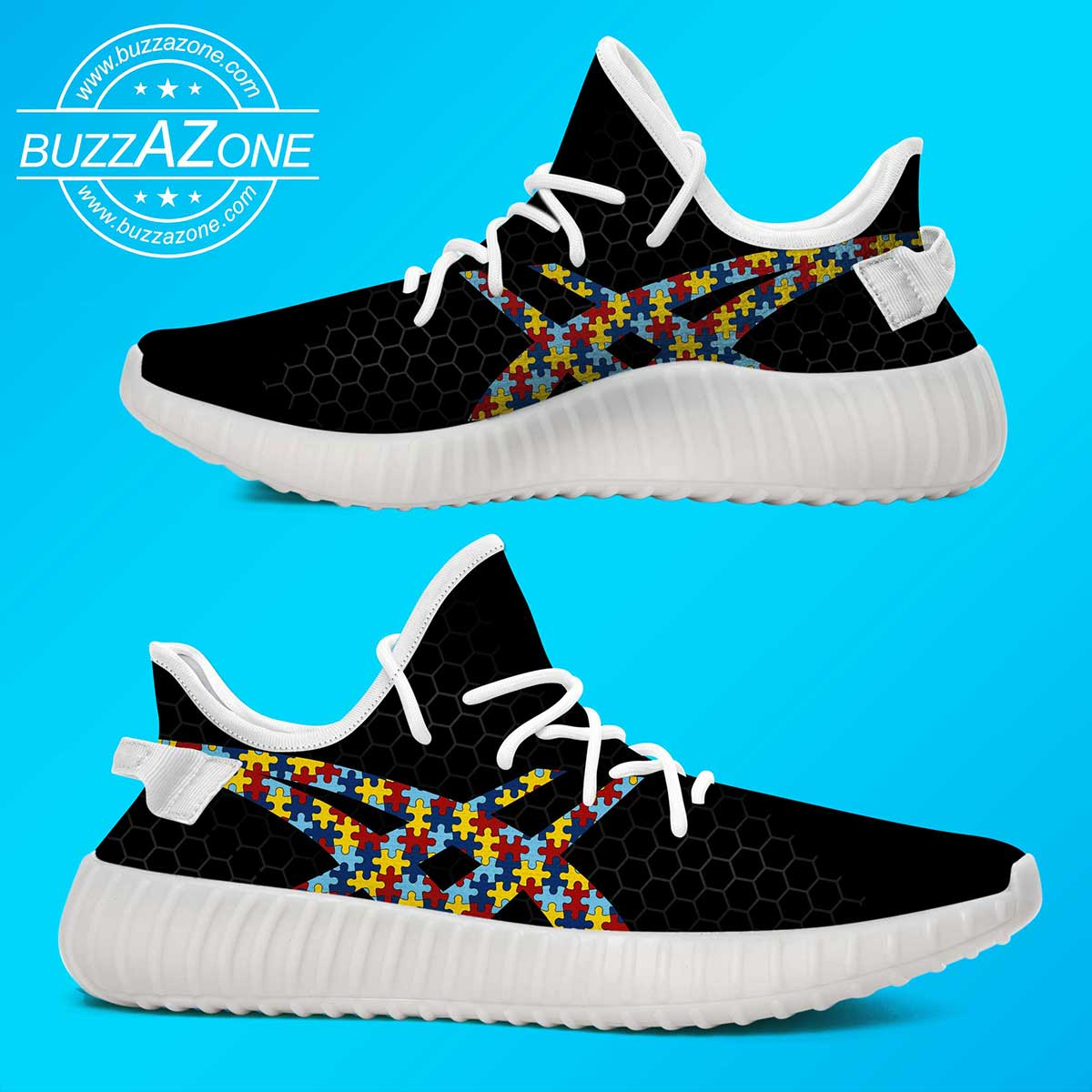 Autism awareness custom yeezy sneakers 2