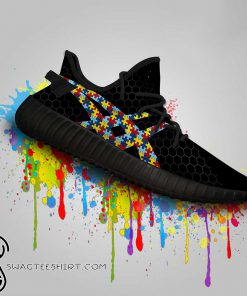 Autism awareness custom yeezy sneakers