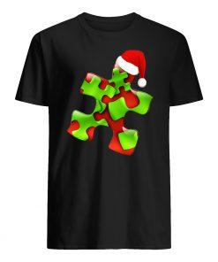 Autism santa christmas mens shirt