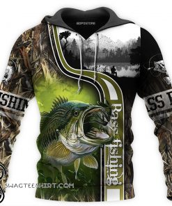 Bass fishing all over printed shirt