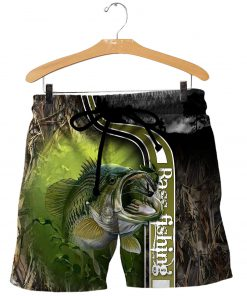 Bass fishing all over printed shorts