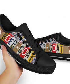 Boer goat license plates low top sneakers 3