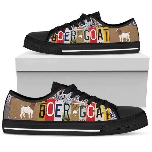 Boer goat license plates low top sneakers 6