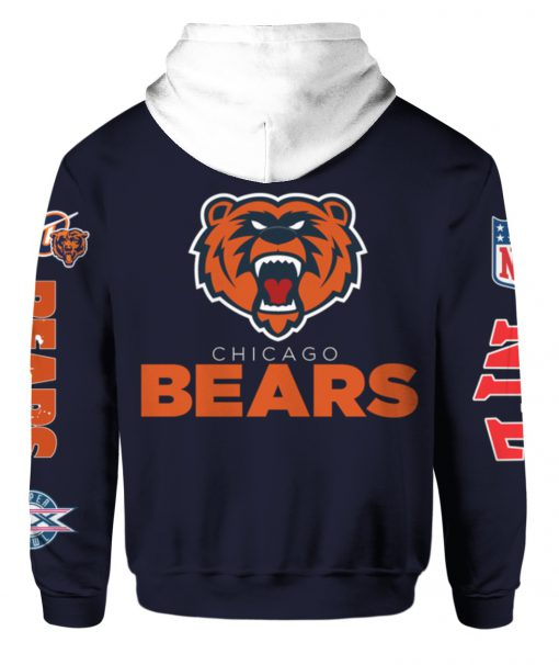 Chicago bears mascot all over print hoodie - back