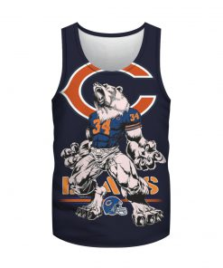 Chicago bears mascot all over print tank top
