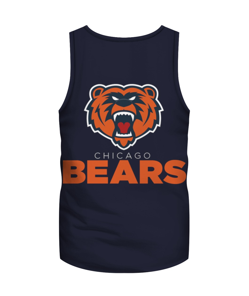 Chicago bears mascot all over print tank top - back