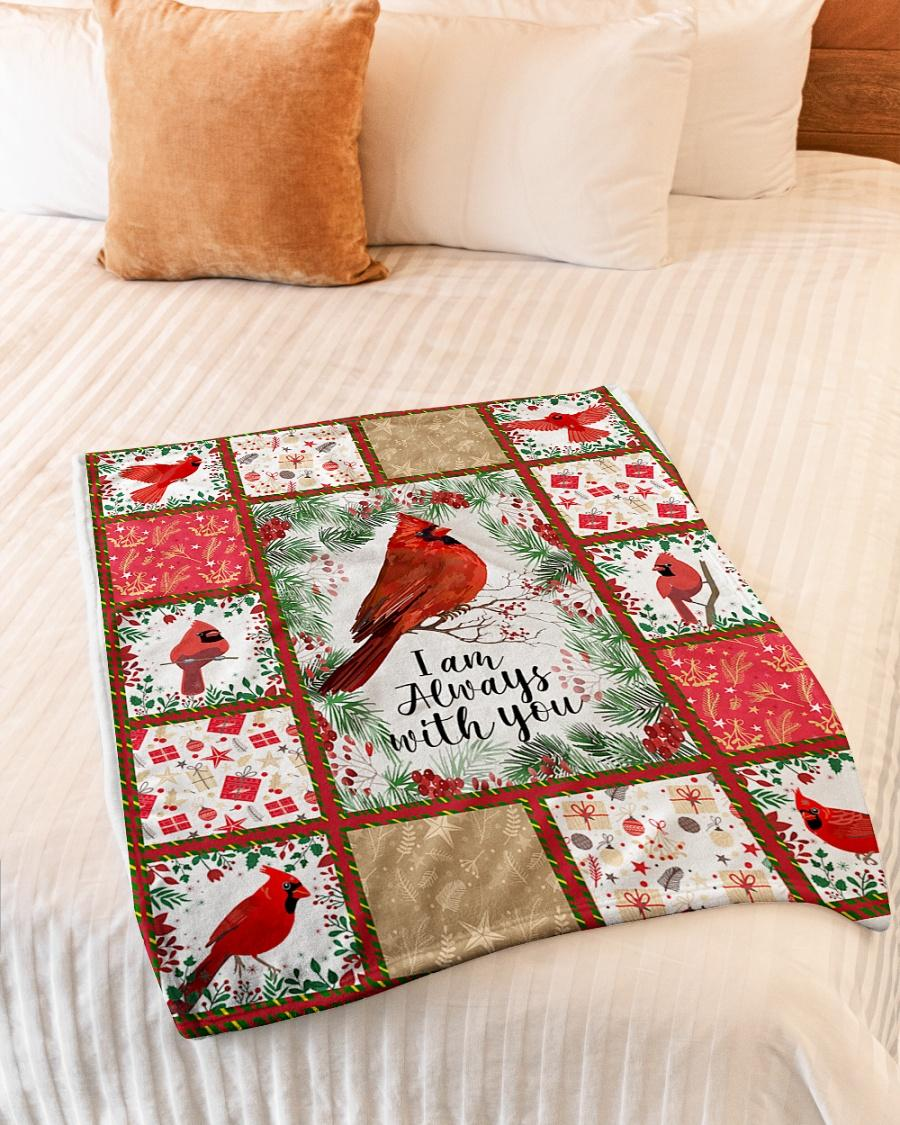 Christmas red cardinal i am always with you fleece blanket 6