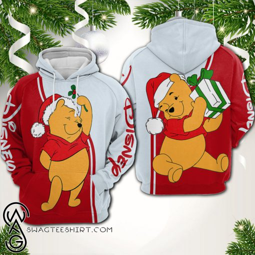 Christmas winnie-the-pooh all over printed shirt