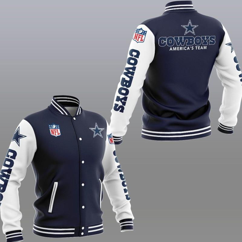 Dallas cowboys america's team 3d jacket - navy