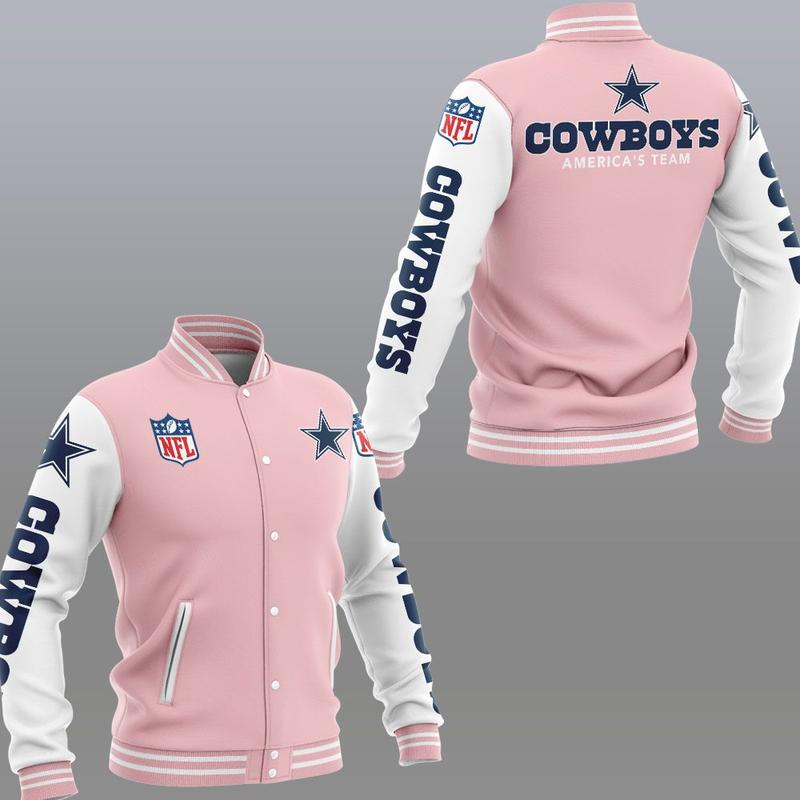 Dallas cowboys america's team 3d jacket - pink