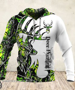 Deer hunter deer hunting neon all over print hoodie