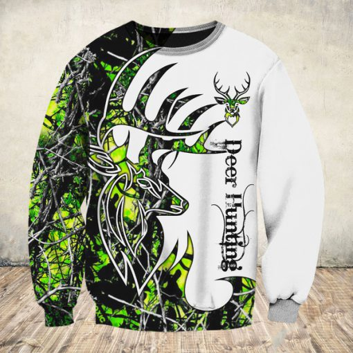 Deer hunter deer hunting neon all over print sweatshirt