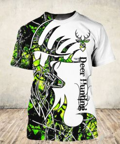 Deer hunter deer hunting neon all over print tshirt