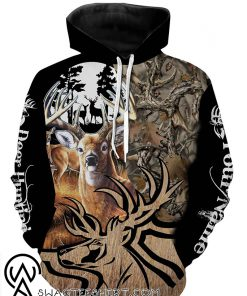 Deer hunting personalized full printing hoodie