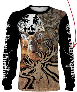 Deer hunting personalized full printing sweatshirt