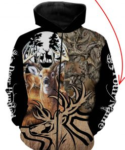 Deer hunting personalized full printing zip hoodie