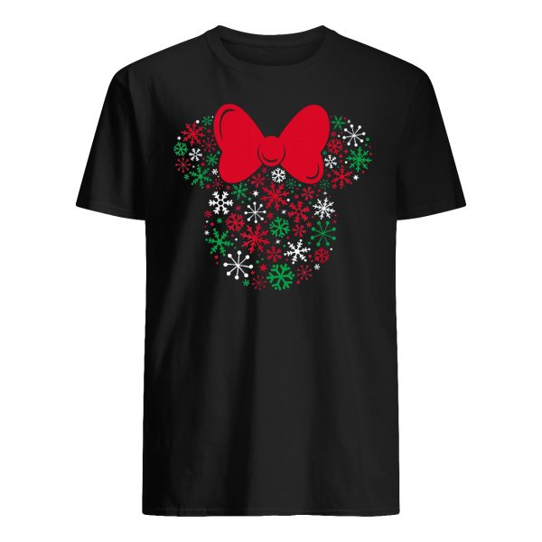 Disney minnie mouse icon holiday snowflakes mens shirt