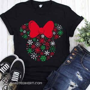 Disney minnie mouse icon holiday snowflakes shirt